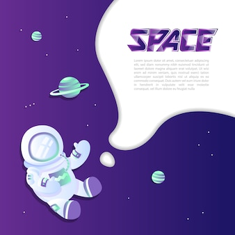 Space exploring template