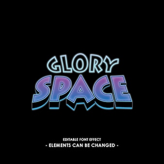 Space font effect with cartoon style