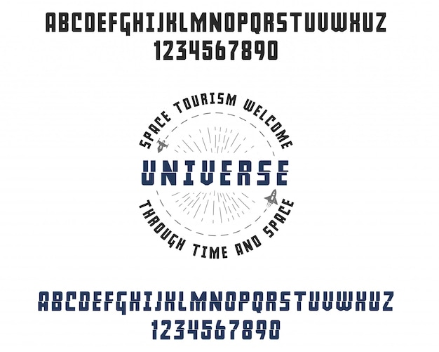 Space font.