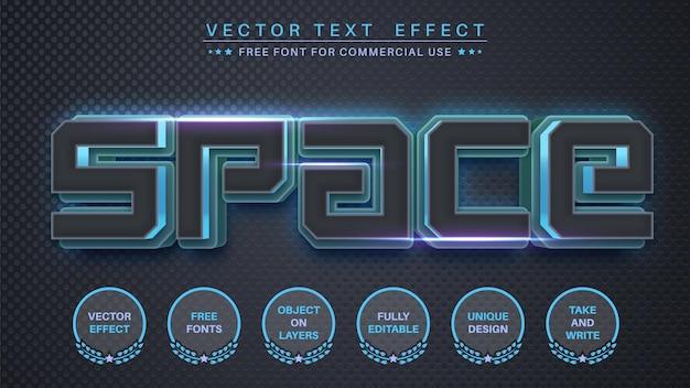 Редактируемый текстовый эффект космической пятницы