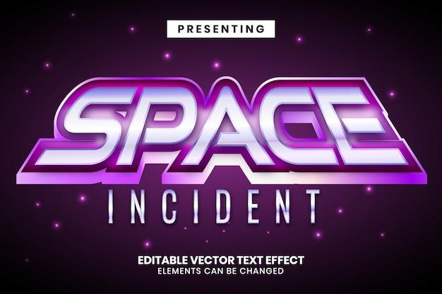 Космическая галактика стиль игры редактируемый текстовый эффект