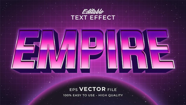 Space game text effect editable retro futuristic text style
