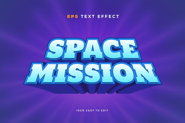 Space game text effect