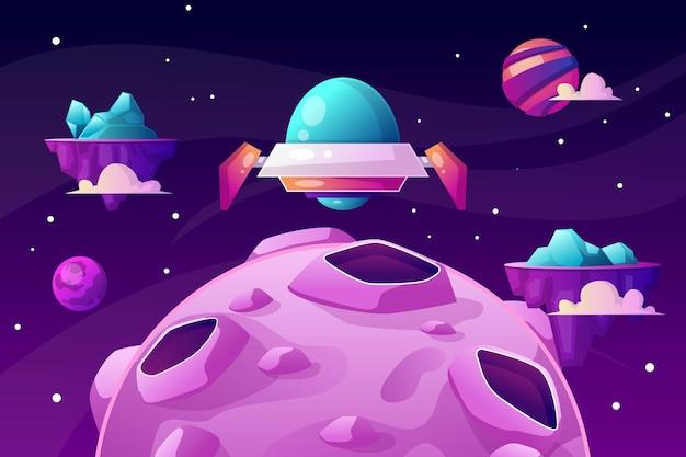 Космическая иллюстрация с научной фантастикой