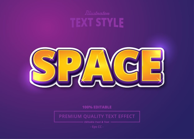 Space illustrator text effect