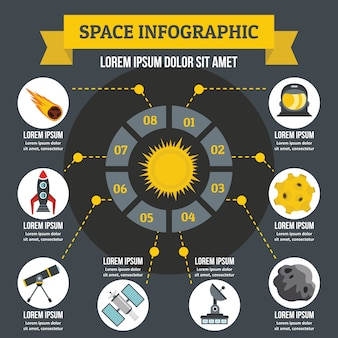 Space infographic concept.