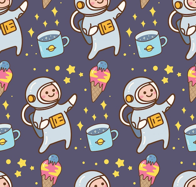 Space kawaii background