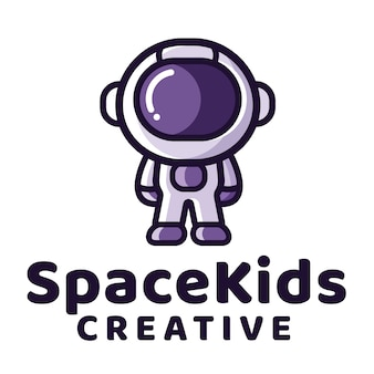 Space kids logo template