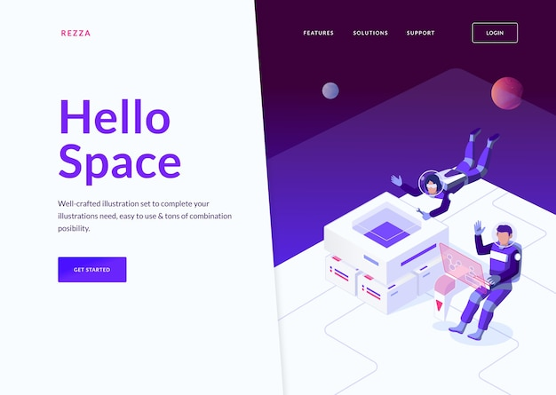 Space landing page concept
