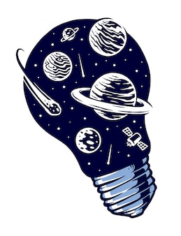 Space lights vector illustration