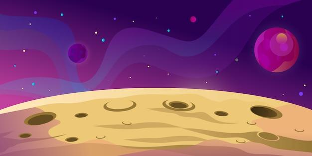 Space mars planet landscape  illustration
