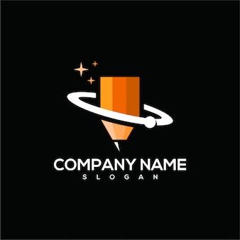 Space pencil logo