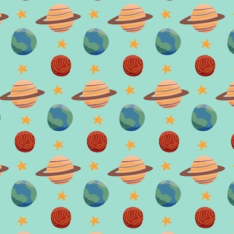 Space planet pattern template