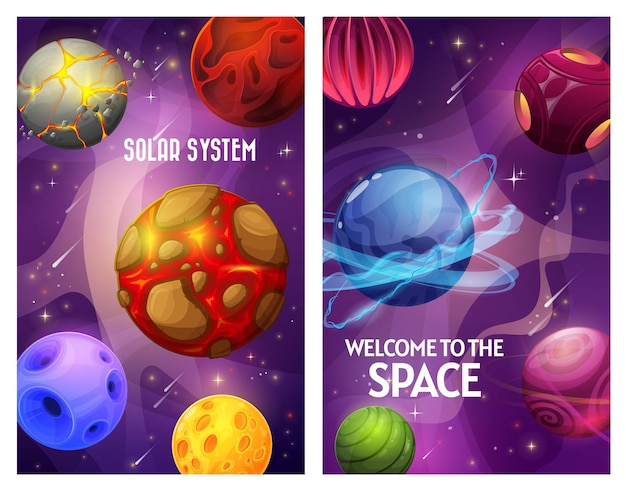 Space and planets, fantasy galaxy and universe