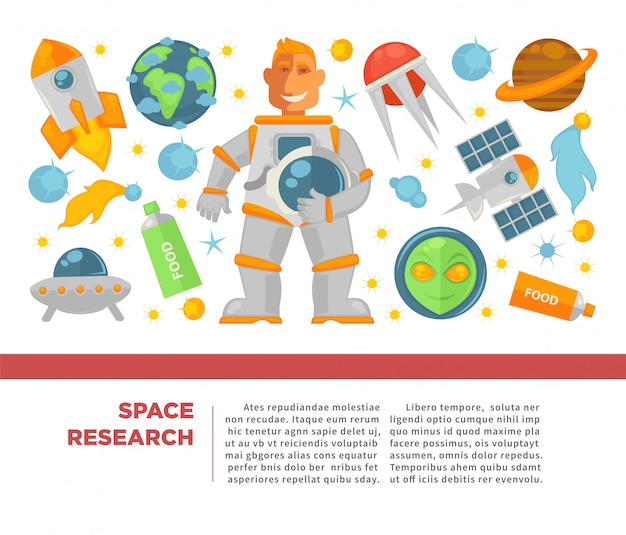 Space research and exploration poster