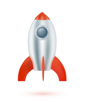 Space rocket isolated. vector illustration