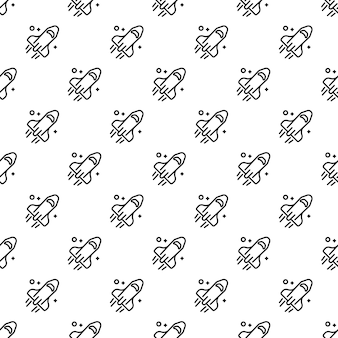 Space rocket pattern seamless