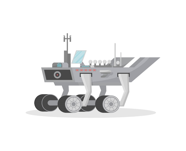 Space rover isolated  icon