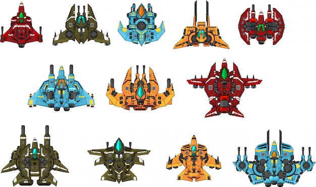 Space ship game sprites