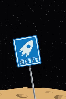 Space ship sign