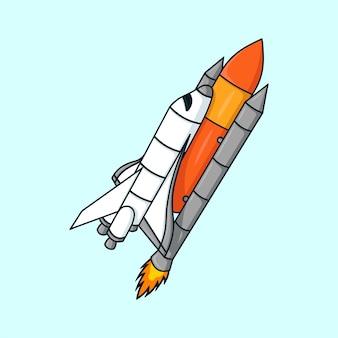 Вектор иллюстрации шаржа космического корабля
