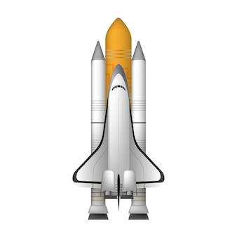 Космический шаттл. изолированный истребитель элемент дизайна на тему космоса.