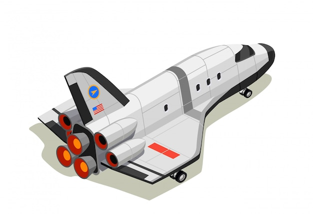 Space shuttle isometric composition
