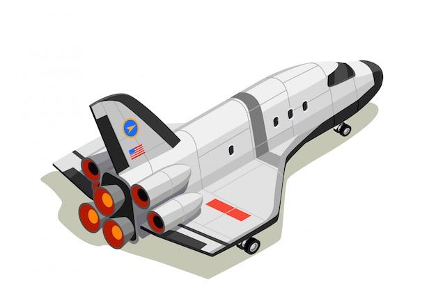Composizione isometrica space shuttle