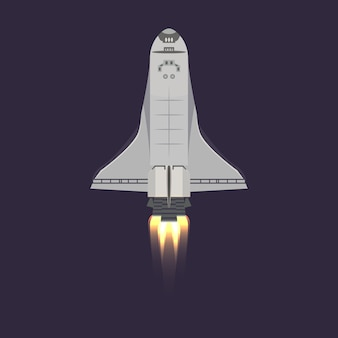 Space shuttle in universe icon