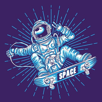 Space skaters