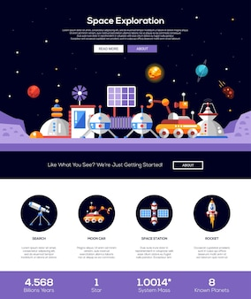 The space and solar system website template