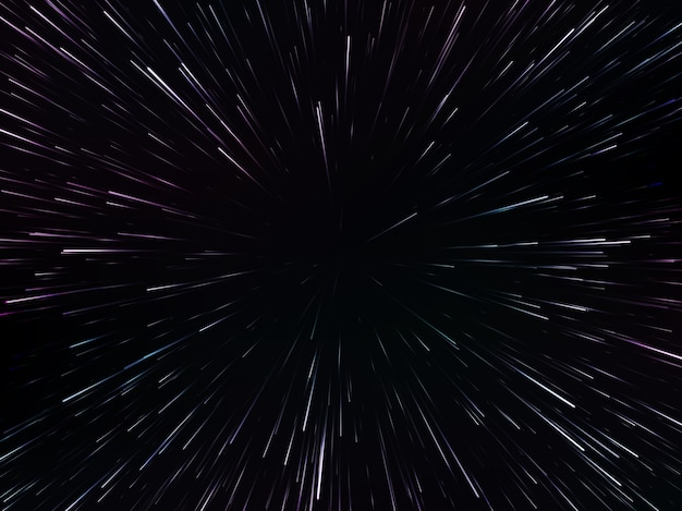 Space speed. abstract starburst dynamic lines or rays,  illustration