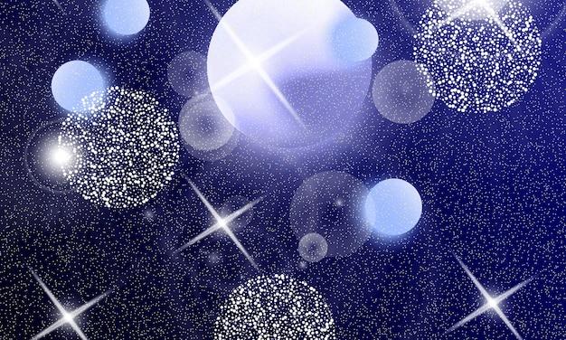 Космические звезды. вселенная фэнтези. фон космической галактики. единорог узор. сказочный фон.