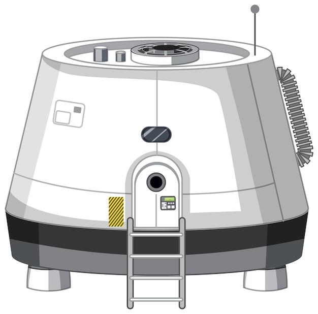 白い背景の上の宇宙ステーション
