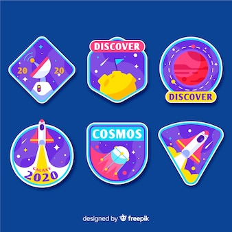 Space sticker collection illustration design