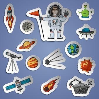 Набор космических стикеров