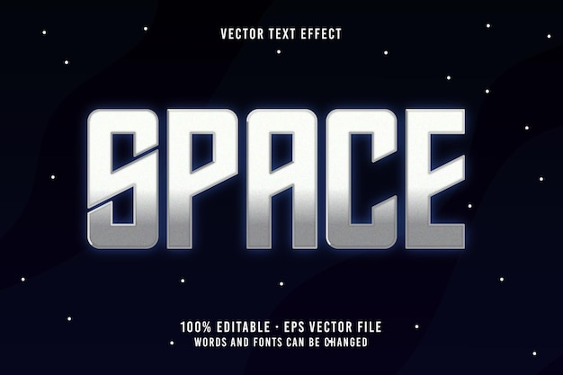 Space text editable font effect