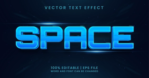 Space text editable text effect style template