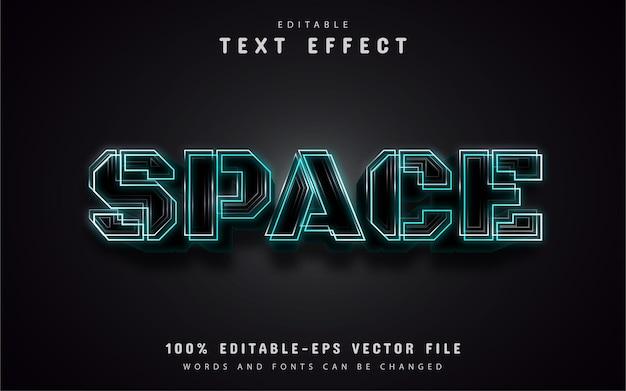 Пробел текста, редактируемый текстовый эффект