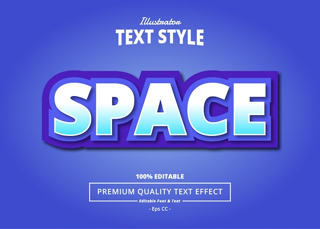 Space text effect