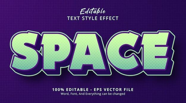 과장된 그라데이션 스타일 효과가 있는 공간 텍스트, 편집 가능한 텍스트 효과