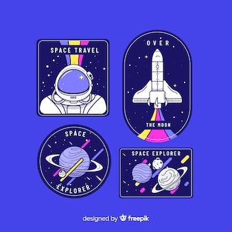 Коллекция стикеров космической темы