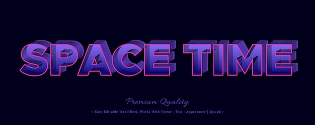 Space time 3d font style effect