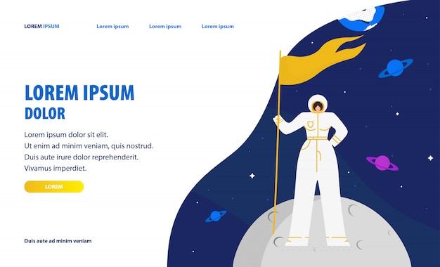 Space tourism website homepage template