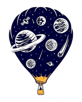 Space travel illustration