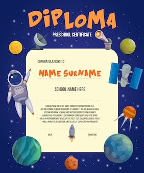 Space universe certificate