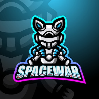 Космическая война талисман киберспорт логотип иллюстрации
