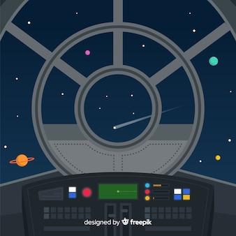 Spacecraft control panel background