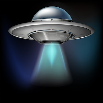 Spacecraft flying in dark space