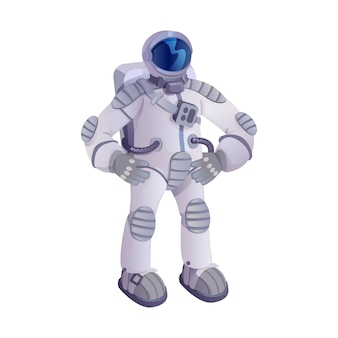 宇宙飛行士の漫画。宇宙飛行士、宇宙服の宇宙飛行士